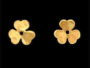 Шапочка. Clover Bead Cap 10mm  Gold